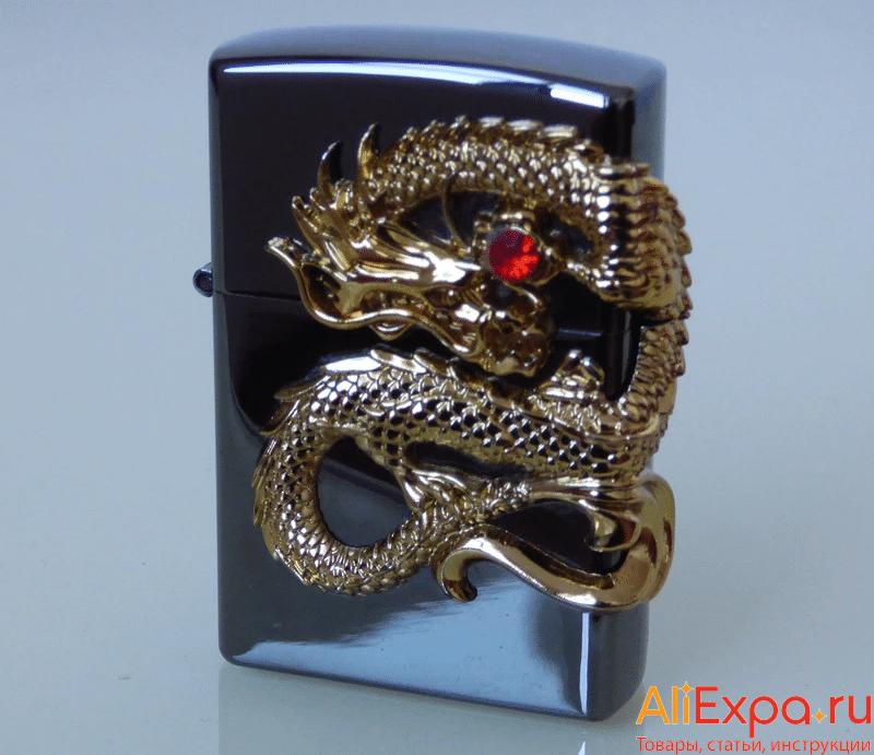 Электронная зажигалка с драконом купить на Алиэкспресс