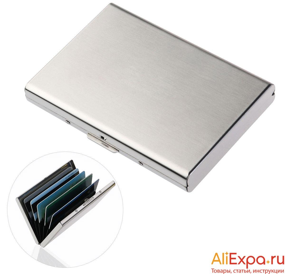 Металлический футляр для визиток купить на Алиэкспресс