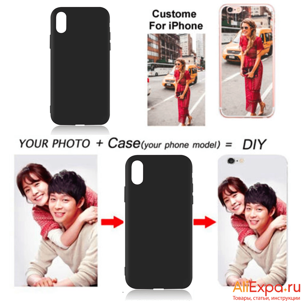 Чехол на айфон с фото на заказ купить на Алиэкспресс