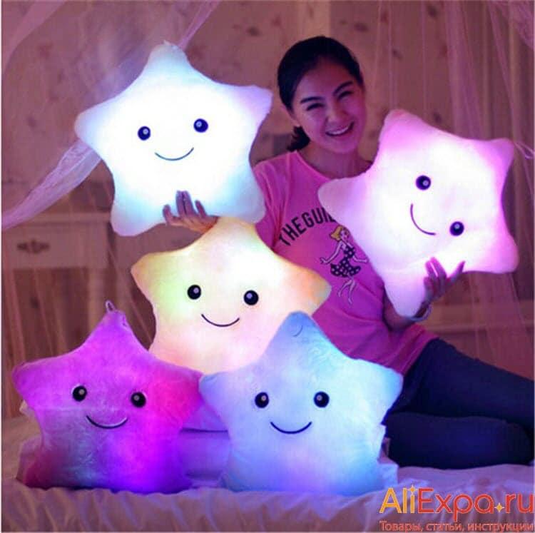 Светящаяся подушка - звезда купить на Алиэкспресс