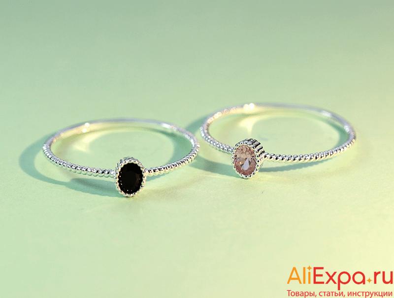 Тонкое кольцо с камнем купить на Алиэкспресс