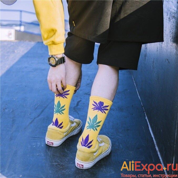 Хлопковые носки для нее и для него купить на Алиэкспресс