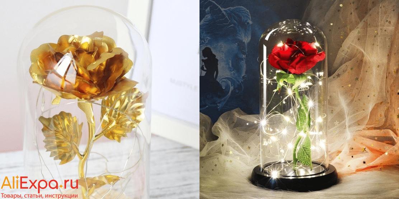 Роза в стеклянной колбе купить на Алиэкспресс